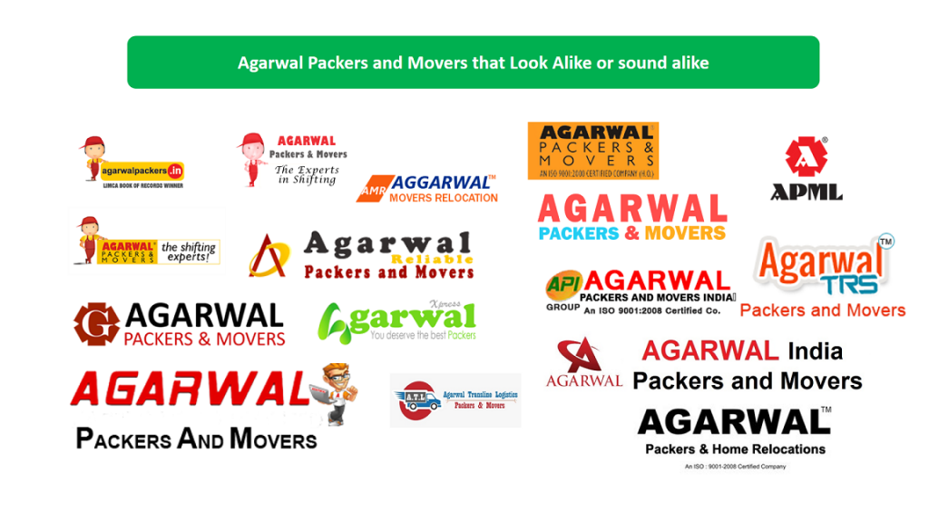 Spell alikes and Look alikes of Agarwal Packers and Movers